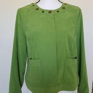 Sag Harbor Petite Large Blazer Jacket Blouse NWOT